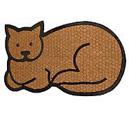 Geo Crafts Flat Weave Tuffcor Cat Door Mat - H283847