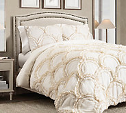Chic 3-Piece Ivory King Comforter Set by Lush Decor - H287547