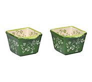 Temp-tations Floral Lace Set of 2 10-oz EZ Holds - H287647