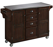 Home Styles Traditional Kitchen Cart with Stainless Steel Top - H288647