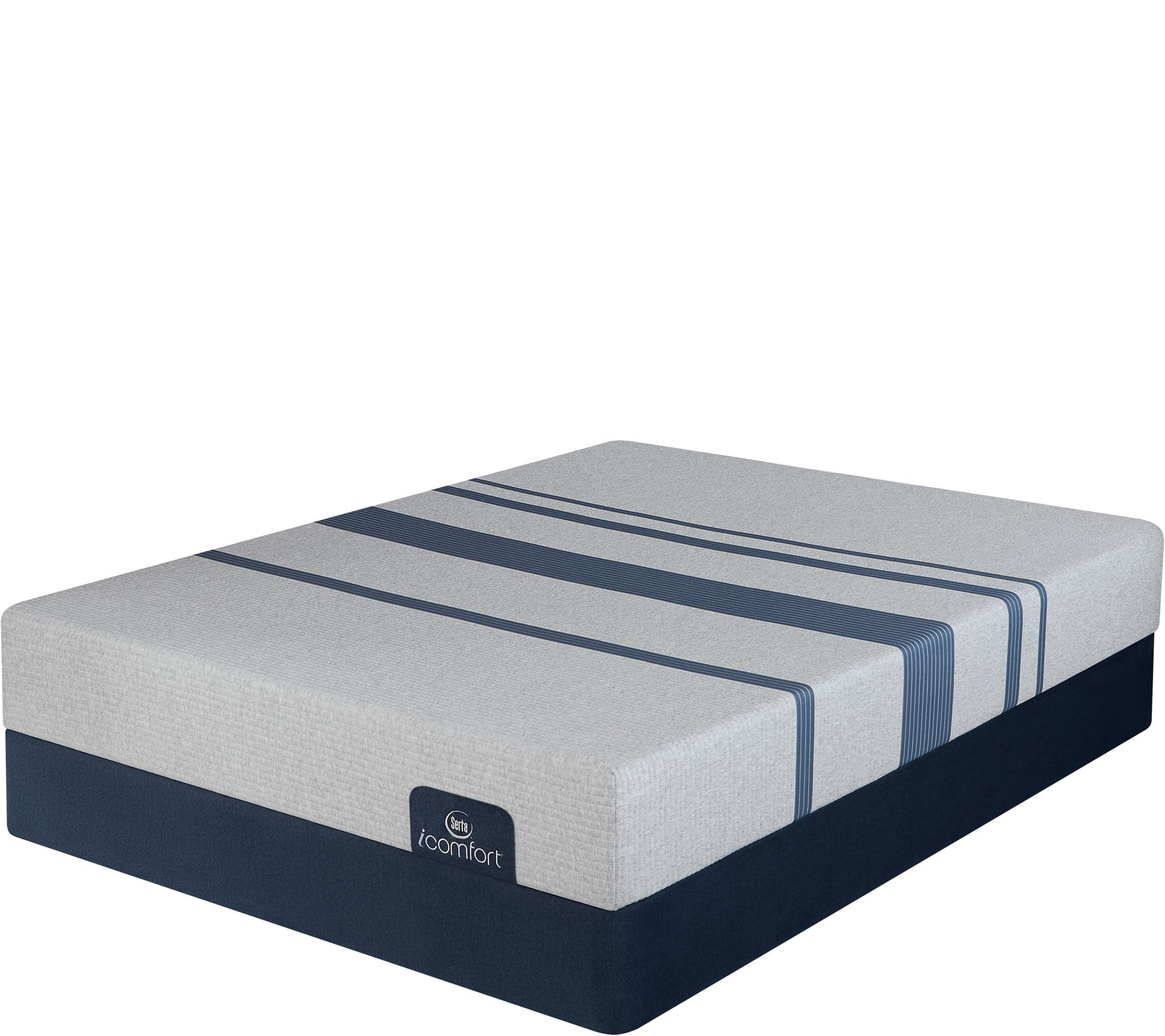 Serta i fort Blue 100 Gentle Firm King Mattress Set — QVC