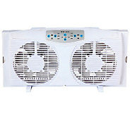 Optimus 8 Reversible Twin Window Fan with Thermostat - H368047