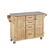 Home Styles Large Create a Cart - Natural w/Grate Top - H129048