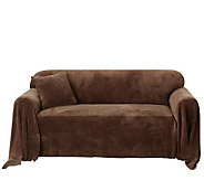 Sure Fit Plush Love Seat Throw Cover - H180348