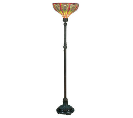 Tiffany style 69quoth dublin torchiere floor lamp h181248 for Tiffany floor lamp qvc