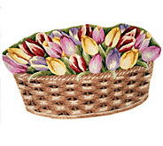Royal Palace Flower Basket 30 x 50 Handmade Wool Rug - H202148