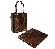 Dennis Basso Faux Fur Overnight Bag with 32x60 Lap Throw - H203248