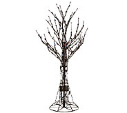 Santas Best 4 All-Season Prelit Brown Wire Tree with RGB Technology - H205348