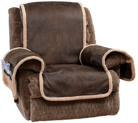 Sure Fit Reversible Faux Leather Sherpa Recliner