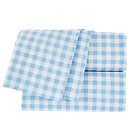 Isaac Mizrahi Live! Home 100Cotton Gingham Queen Sheet Set - H208648