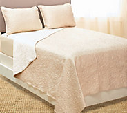 As Is Dennis Basso 3 pc. Haylet Matte Quilted FL/QN Coverlet Set - H209148