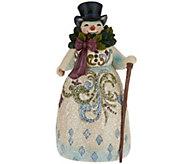 Jim Shore Victorian Christmas Snowman Figurine - H209648