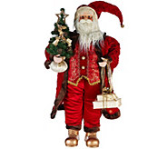 As Is Dennis Basso 36 Traditional Old World Oversize Santa Figure - H210348
