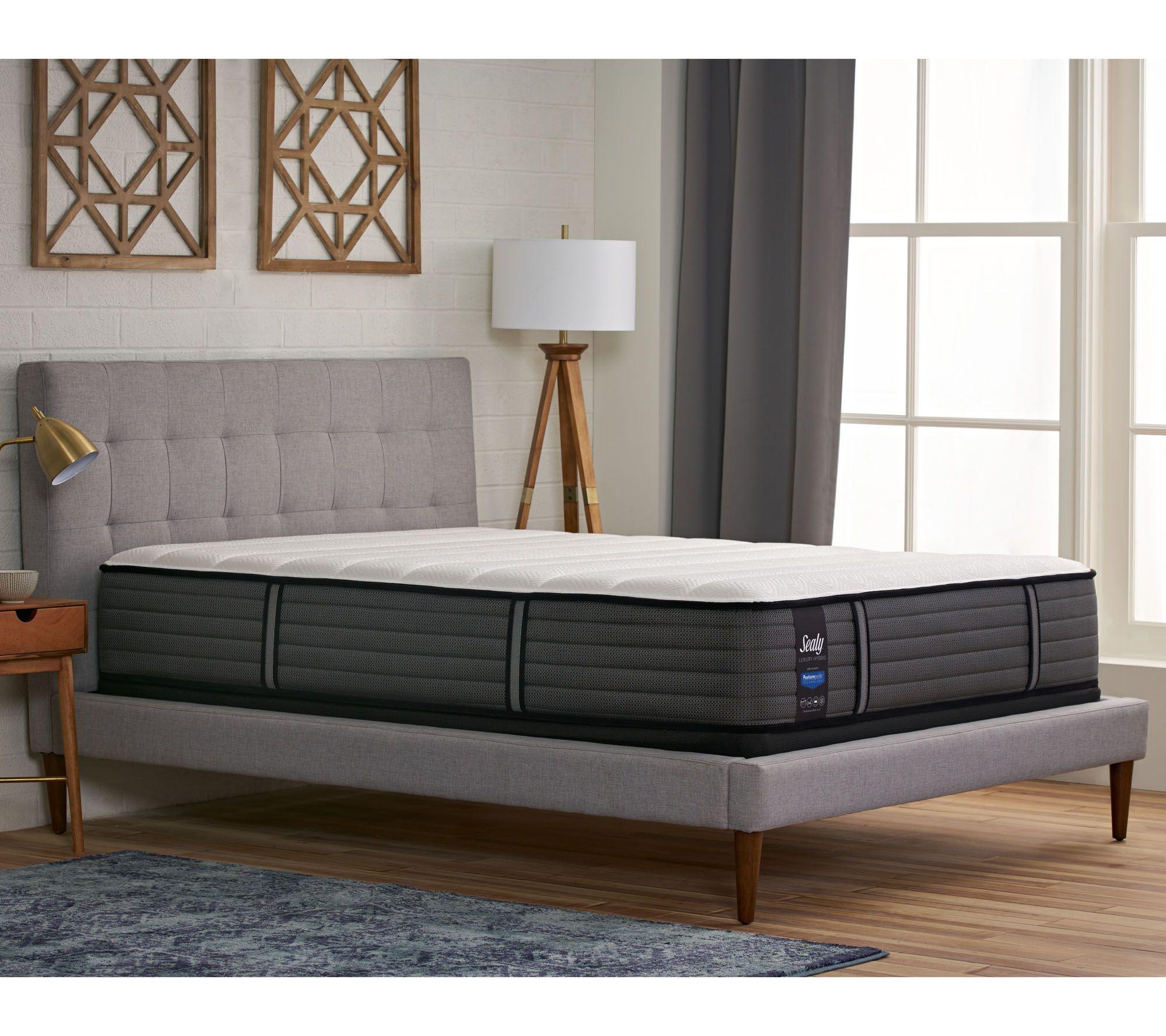"Sealy Luxury Hybrid Cal King 13"" Cushion Firm Mattress Set - H212151"