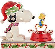 Jim Shore Peanuts Snoopy & Woodstock Christmas Figurine - H212248