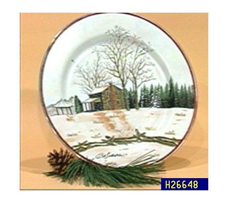 Bob Timberlake Late Snow at Riverwood Hand Painted Plate