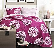 Sophie 3-Piece Fuchsia Full/Queen Quilt Set byLush Decor - H289648