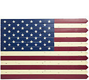 Plow & Hearth Wooden Americana Flag - H291448