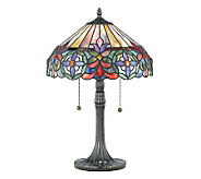Tiffany-Style 22 Genuine Art Glass Table Lamp - H159149
