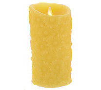 "Luminara 7"" Flower Embossed Flameless Candle with Timer - H200449"