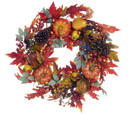 Welcome Friends Harvest Wreath by Valerie
