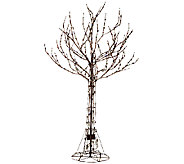 Santas Best 7 All-Season Prelit Brown Wire Tree with RGB Technology - H205349