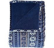 Berkshire Blanket Fair Isle Reverse to Sherpa Blanket - H209049