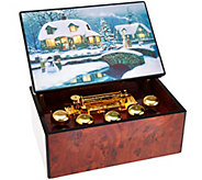 As Is Mr. Christmas Concertina Music Box with Illuminart - H210249