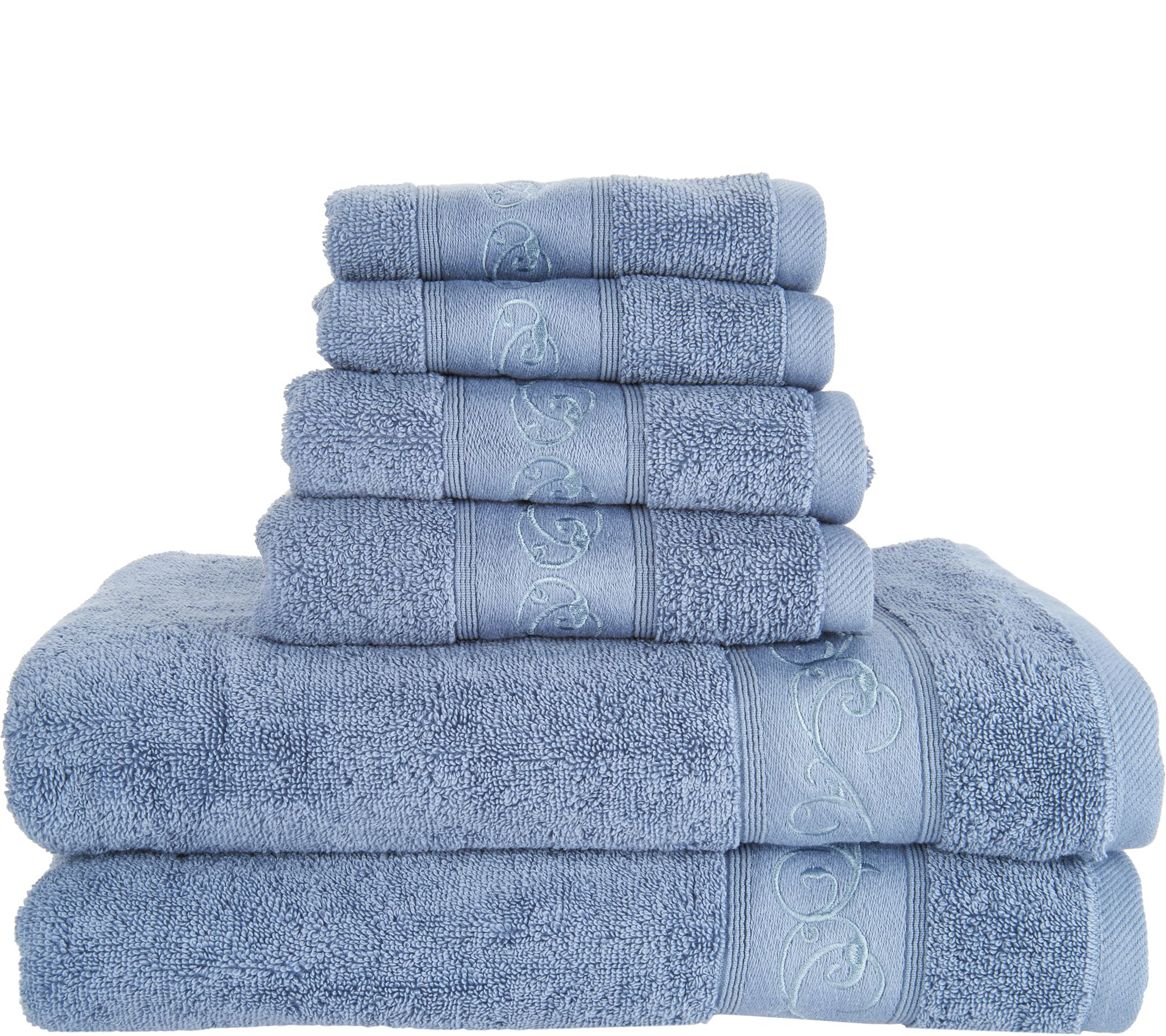 Casa Zeta Jones 6 Piece 100% Cotton Embroidered Towel Set   Page 1 U2014 QVC.com Awesome Design