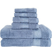 Casa Zeta-Jones 6 Piece 100Cotton Embroidered Towel Set - H213149