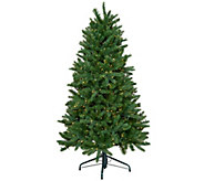 As Is Santas Best 6.5 Starry Light Microlight Tree w/ Flip LEDS - H214049