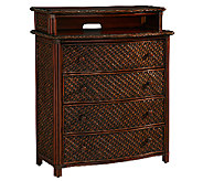 Home Styles Marco Island Media Chest Refined Cinnamon Finish - H282849