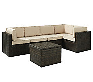 Crosley Palm Harbor 6-Pc Outdoor Wicker Sectional Seating Set - H283049