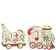 Lenox Holiday Santa and Train Salt and Pepper Shaker - H286849