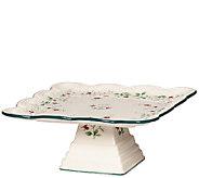 Pfaltzgraff Winterberry Square Cake Plate - H287149