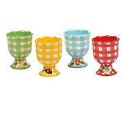 Temp-tations Gingham Garden Set of 4 Egg Cups - H288749