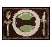 Dogs Dinner 19x27 Tapestry Rug - H349249