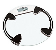 Escali Glass Platform Bathroom Digital Scale 400 lb - Round - H352749