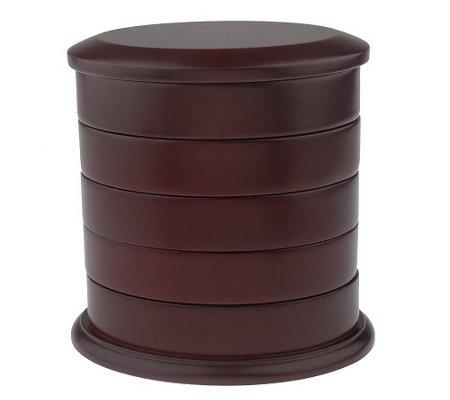 prezerve tarnish free oval swivel jewelry box h51249