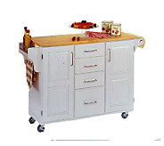 Home Styles Solid Wood Create a Cart - White w/od Top - H129050
