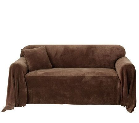 Sure Fit Plush Sofa Throw Cover Page 1 Qvc Com