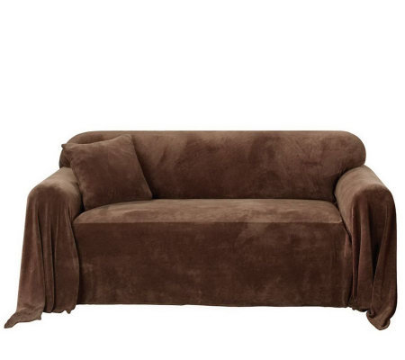 Sure Fit Plush Sofa Throw Cover — QVC