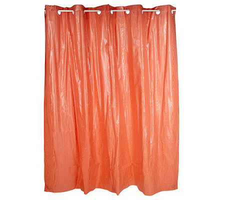 Hookless Heavyweight Moire Shower Curtain