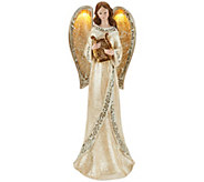 Illuminated Angel with Mosaic Trim by Valerie - H203850