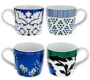 ED On Air Set of 4 11oz Pattern Mugs by Ellen DeGeneres - H204150