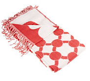 As Is Liz Claiborne New York Chainlette Jacquard Throw - H206850