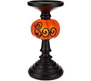 9 Illuminated BOO Candlestick - H208850