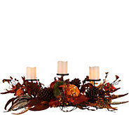 Plow and Hearth Centerpiece with (3) 4 Flameless Candles - H208950