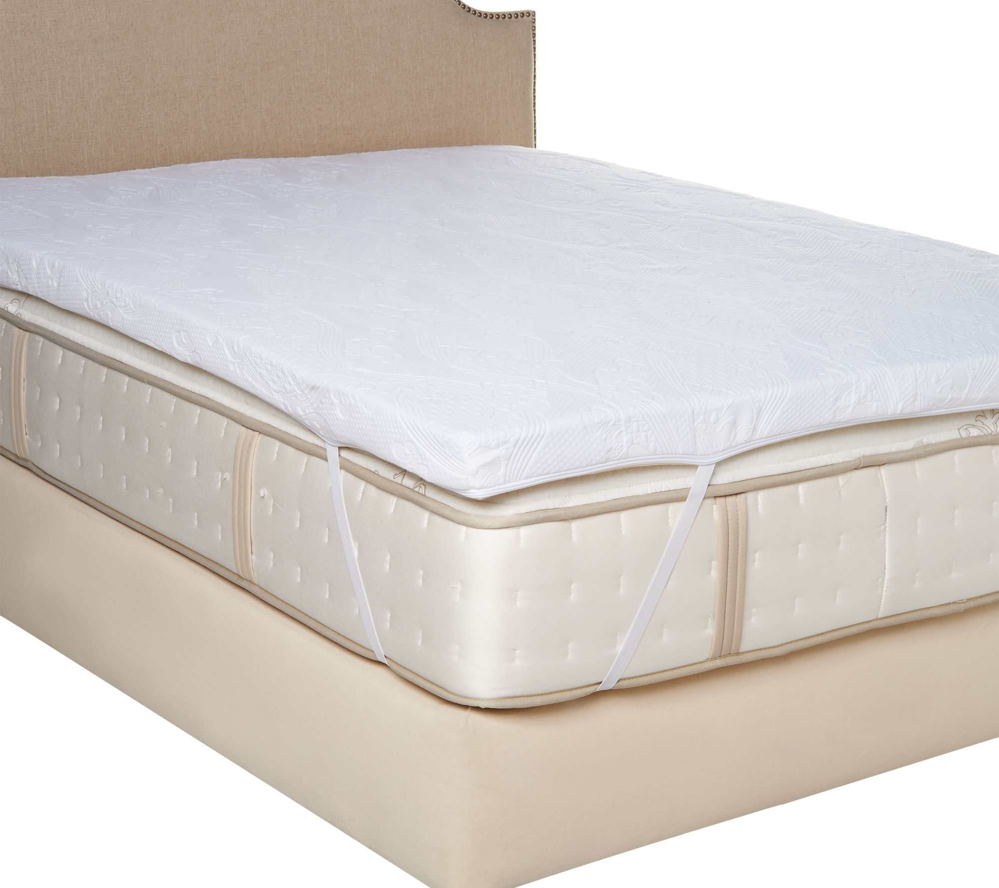 quilted topper deep cotton mattress pad homescapes protector