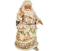 Jim Shore Heartwood Creek Woodland Santa w/ Skates Figurine - H212250